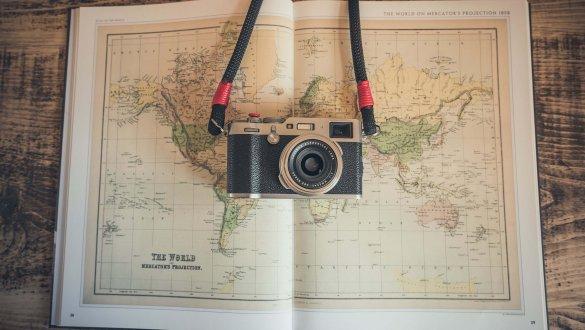 Camera flatlay by Chris Lawton