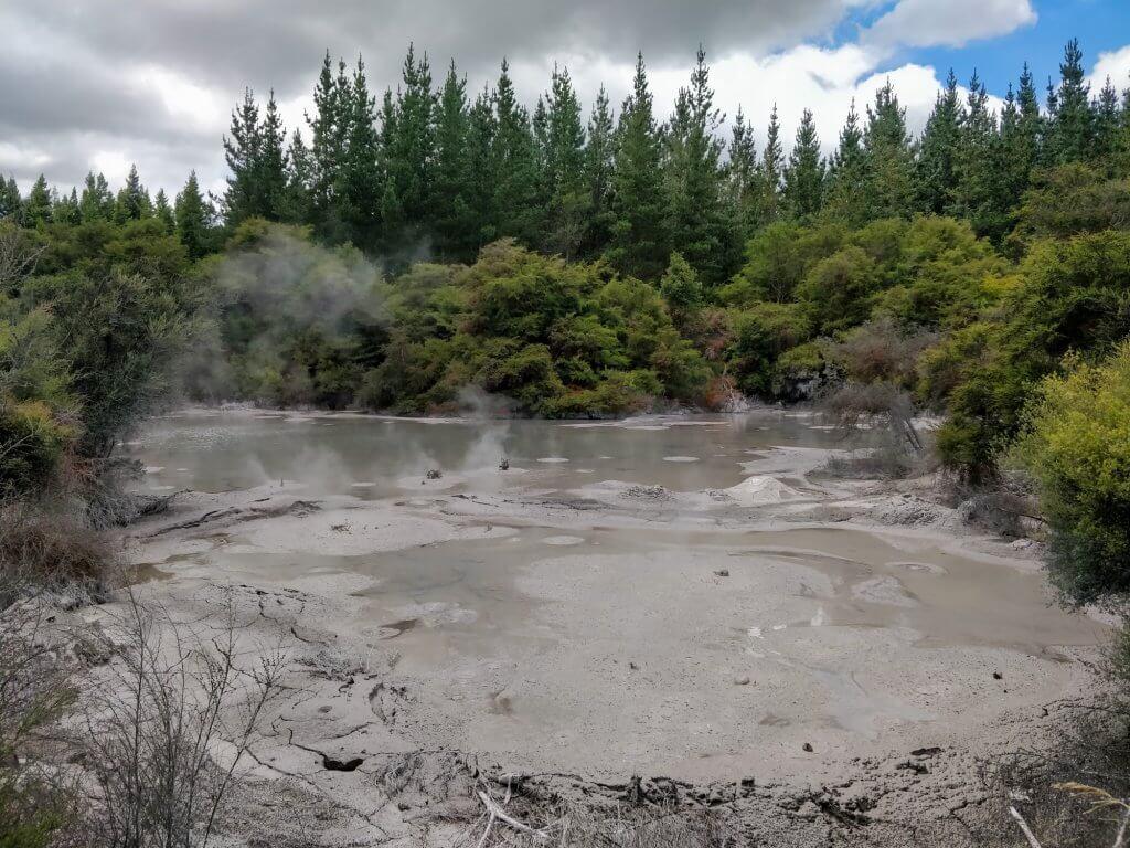 Les mud pools de Wai-O-Tapu