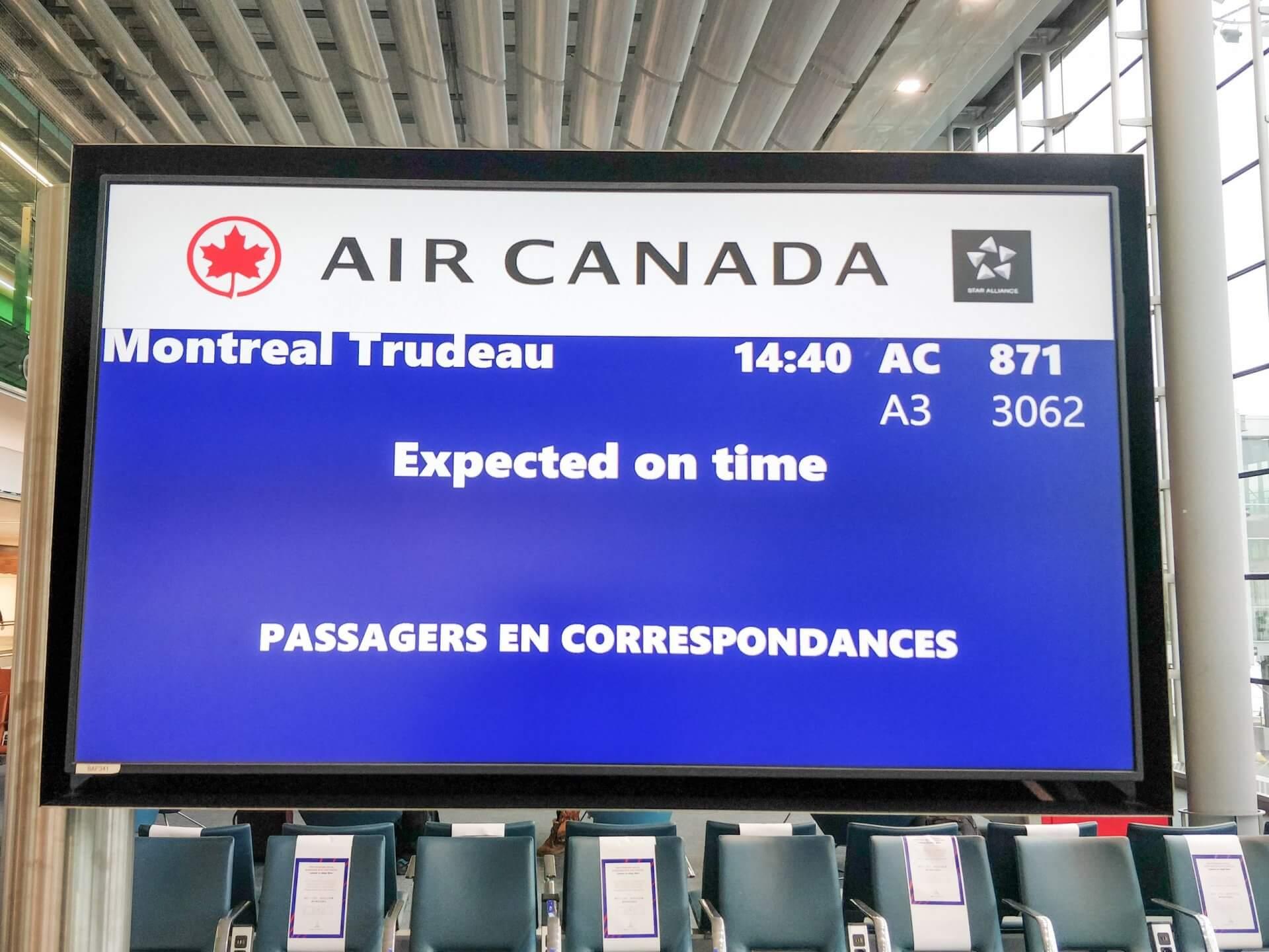 Embarquement imminent pour Montréal