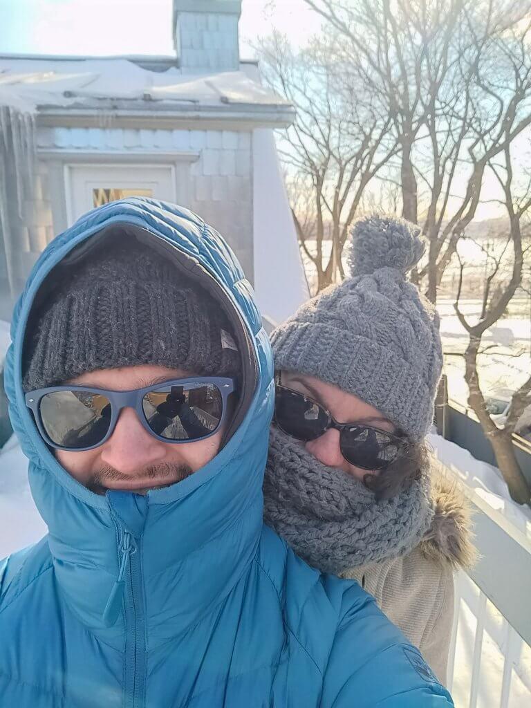 S'aérer pendant la quatorzaine, par -20°C sur notre balcon