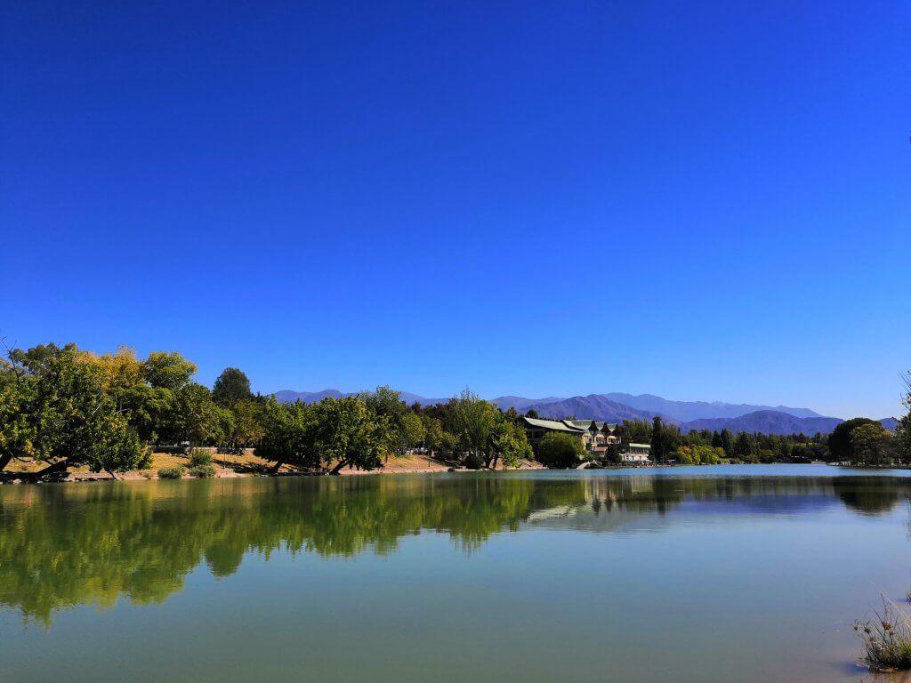 Le lac du parc General San Martin à Mendoza (Argentine) où nous avons terminé notre périple