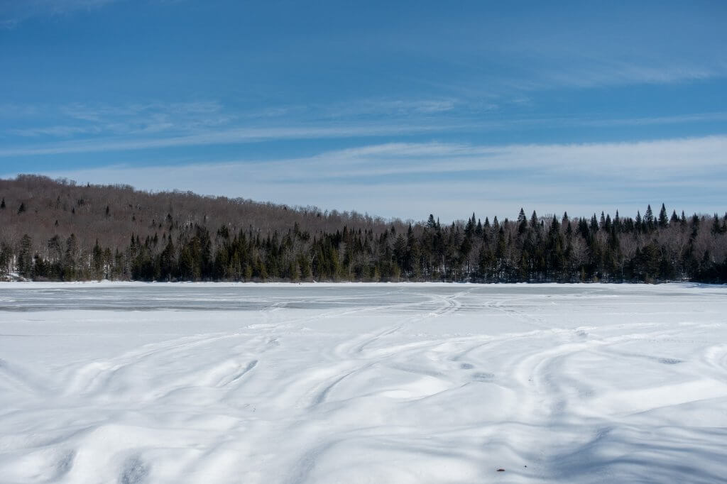 Le Lac Boivin sous la neige