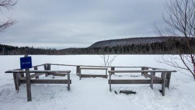 Le Lac Jaune sous la neige