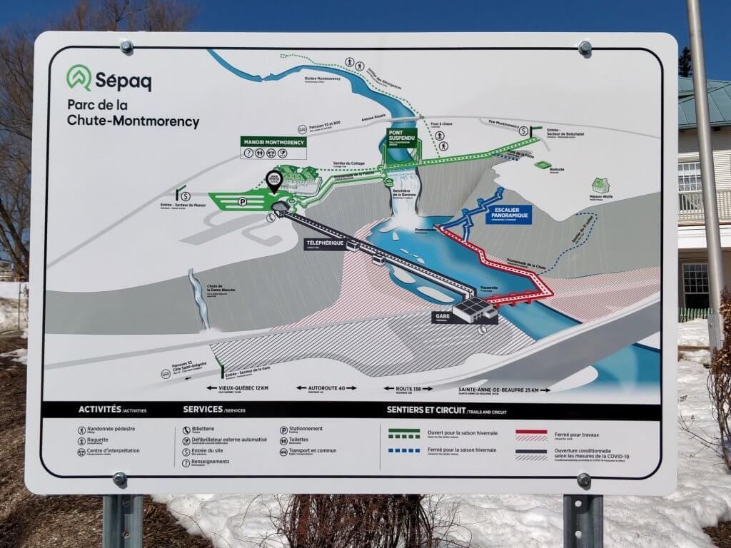Plan détaillé du parc