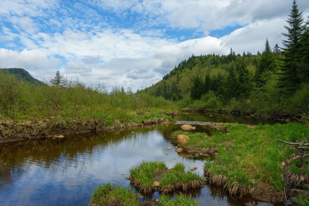 Trouée dans les nuages en arrivant à la rivière Sautauriski